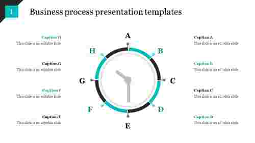 business process presentation templates with clock design