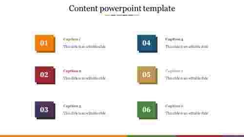 content powerpoint template presentation