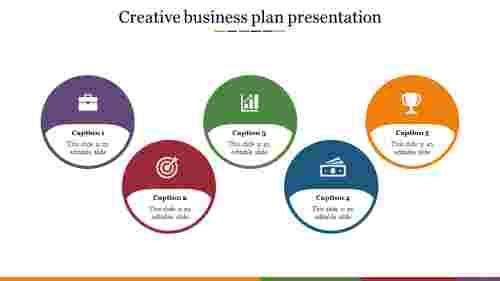 creative business plan presentation template