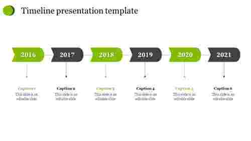 Business timeline presentation template