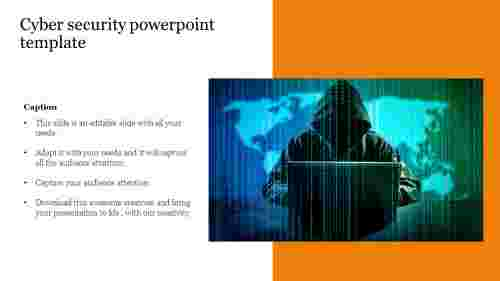 Portfolio cyber security powerpoint template