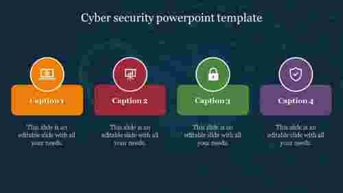 Cyber security powerpoint template design