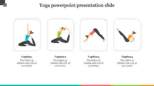 Yoga positions powerpoint presentation slide