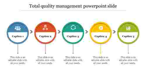 Creative total quality management powerpoint slide