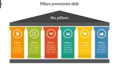 Six pillars powerpoint slide