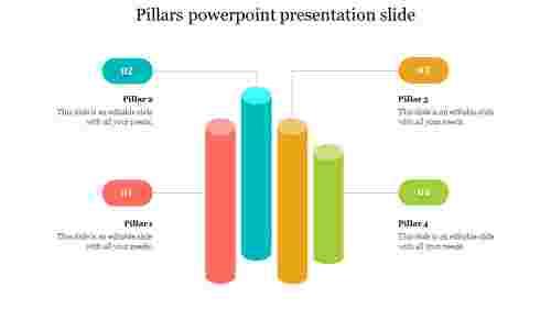 Four pillars powerpoint presentation slide
