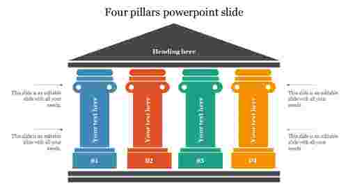 Best four pillars powerpoint slide