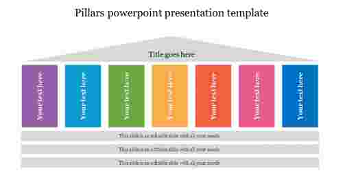Colorful pillars powerpoint presentation template