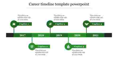 career timeline template powerpoint-Green