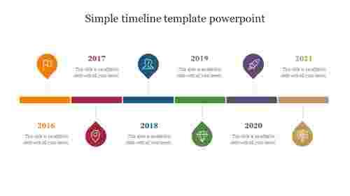 simple timeline template powerpoint presentation