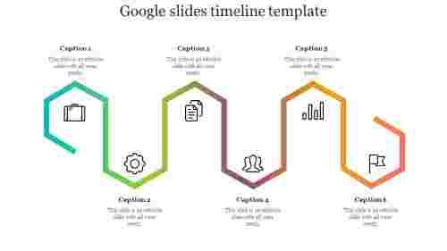 Google slides timeline template design