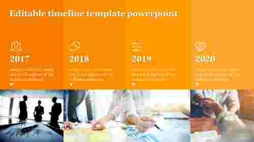 Editabletimelinetemplatepowerpointslide