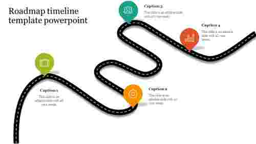 Creative roadmap timeline template powerpoint