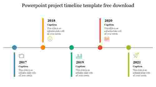 Simple powerpoint project timeline template free download