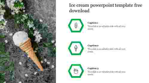 Creative ice cream powerpoint template free download