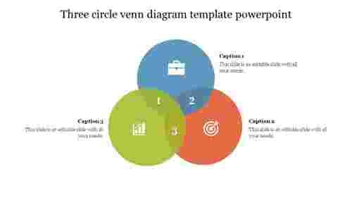 Three circle venn diagram template powerpoint