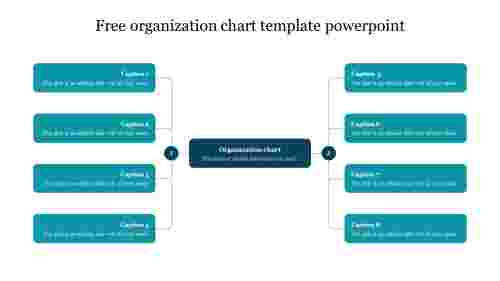 Free organization chart template powerpoint slides