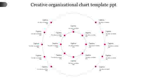 Creative organizational chart template ppt