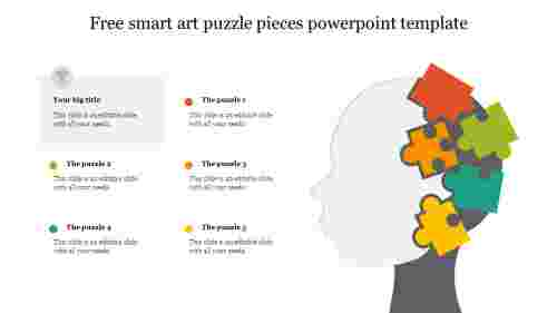 Free smart art puzzle pieces powerpoint template