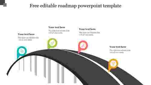 Free editable roadmap powerpoint template design