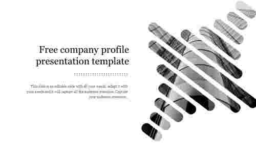 Free company profile presentation template slide