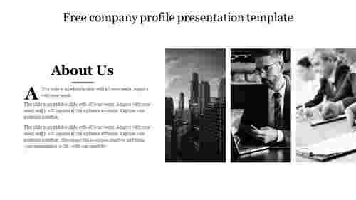 Free company profile presentation template design