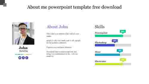 About me powerpoint template free download
