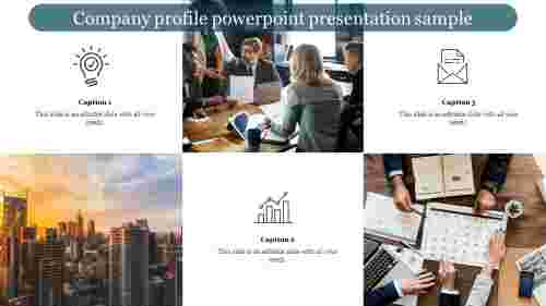 Company profile powerpoint presentation sample slide