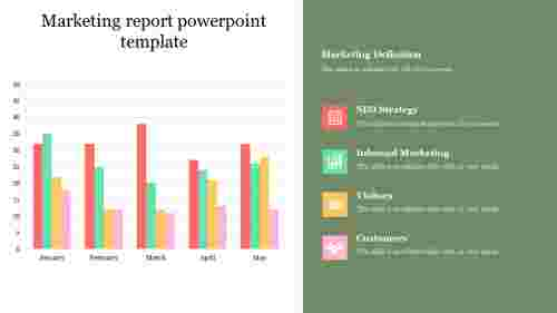 Best marketing report powerpoint template