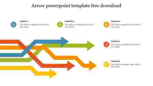 Creative arrow powerpoint template free download