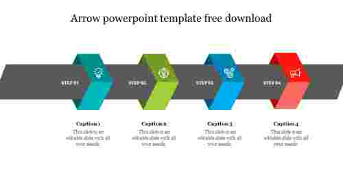Arrow powerpoint template free download