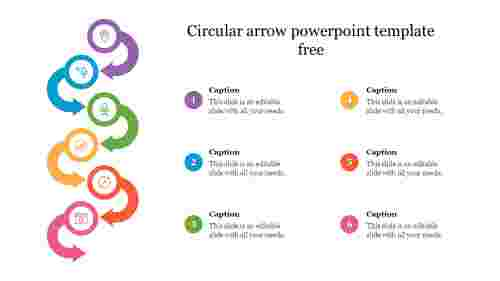 Circular arrow powerpoint template free presentation