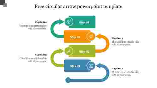 Free circular arrow powerpoint template