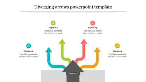 Diverging arrows powerpoint template design