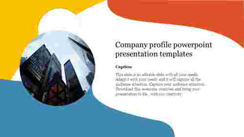 Free company profile powerpoint presentation template