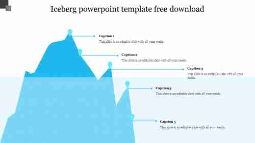 Creative iceberg powerpoint template free download