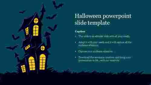 Creative halloween powerpoint slide template