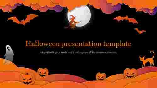 Creative halloween presentation template