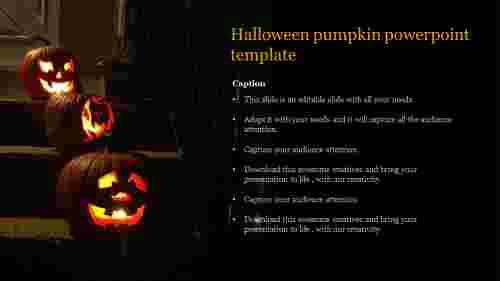 Best halloween pumpkin powerpoint template