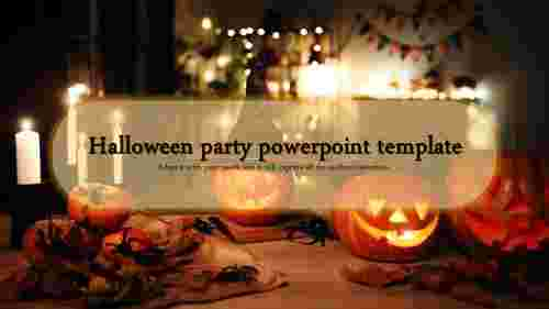 happy halloween party powerpoint template