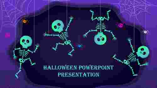 Halloween powerpoint presentation template slide