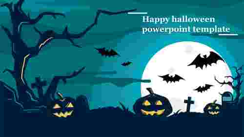 Happy halloween powerpoint template for presentation