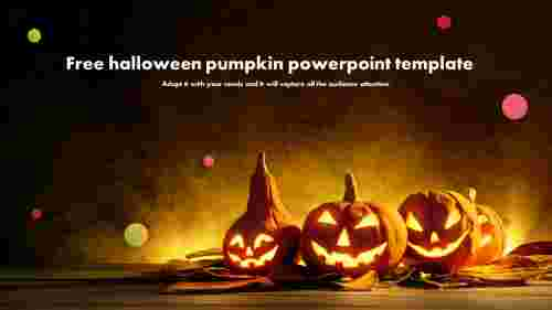 Free halloween pumpkin powerpoint template slide