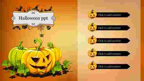 Best halloween ppt template