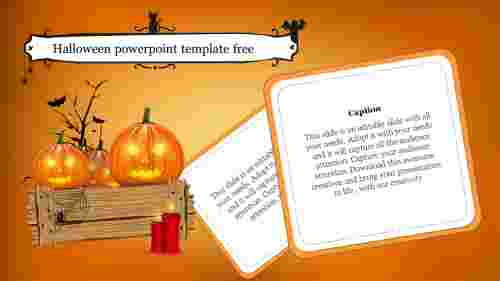 Halloween powerpoint template free slide