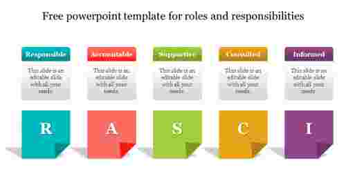 Free powerpoint template for roles and responsibilities slide