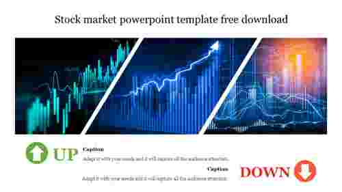 Creative stock market powerpoint template free download