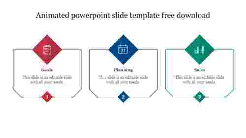 Creative animated powerpoint slide template free download