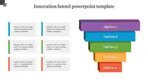 Innovation funnel powerpoint template with animation