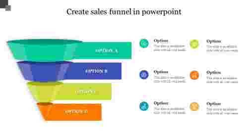 Create sales funnel in powerpoint presentation
